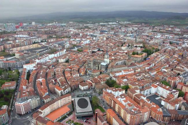 Vuelo en globo sobre Vitoria-Gasteiz 20-04-2013